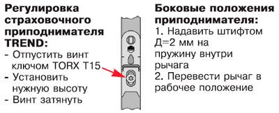 Инструкция по регулировке оконной фурнитуры maco multi trend.